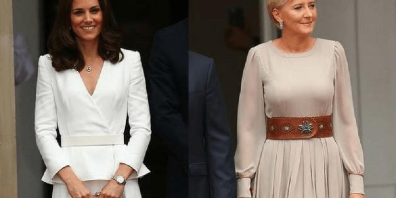 Kreacje księżnej Kate i Agaty Dudy