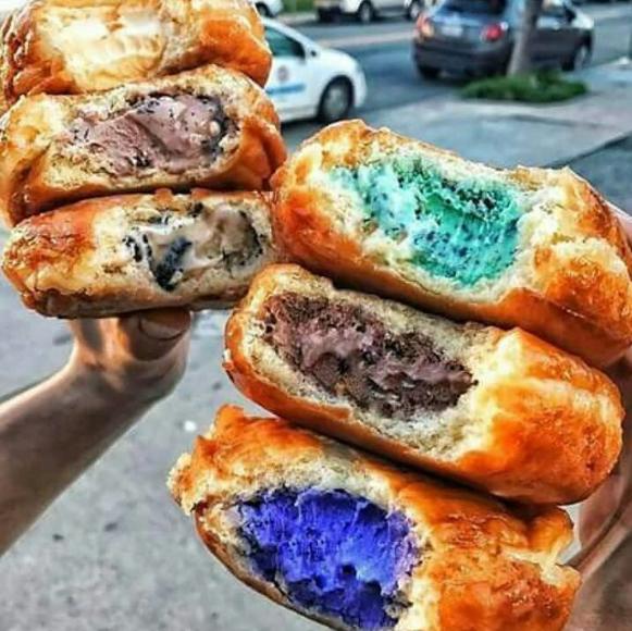 Ice-cream donuts